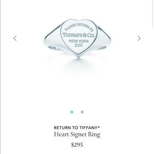 Tiffany and Co Signet Heart Ring